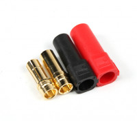 XT150 ESC Side w/6mm Gold Connectors - Red & Black (5pairs/bag)