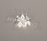 CNC 3D spinner Large Silver 65mm