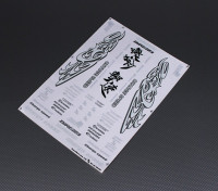 Self Adhesive Decal Sheet - Charge Speed 1/10 Scale