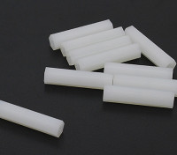 5.6mm x 25mm M3 Nylon Tapped Spacer (10pc
