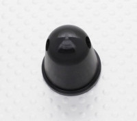 """Prop Nut/Spinner 22mm Alloy 5/16""""-24 Anodised Black"""