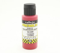 Vallejo Premium Color Acrylic Paint - Carmine (60ml) 62.006