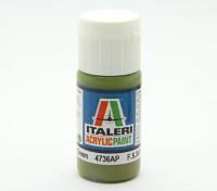Italeri Acrylic Paint - Flat Interior Green (4736AP)