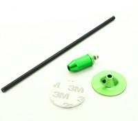 Mini GPS Folding Antenna Base Set/Green