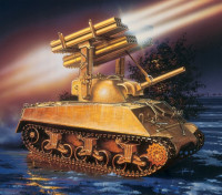 Italeri 1/35 Scale M4A3 Sherman Calliope Vehicle Model Kit