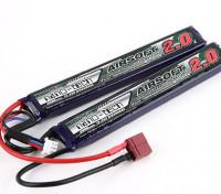 Turnigy nano-tech 2000mAh 2S 15~30C Lipo AIRSOFT Pack (T-Connector)
