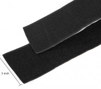 Polyester Velcro Peel-n-stick (Black) (1 Meter)
