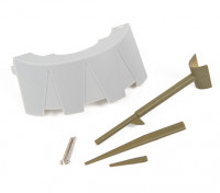 Replacement Plastic Scale Parts for Durafly Curtiss P-40N Warhawk.