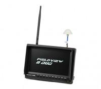 8 inch 800 x 480 LCD Sunlight Viewable FPV Monitor w/32CH Dual Receiver, PIP (EU plug)
