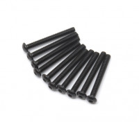 Screw Button Head Hex M2.5 x 22mm Machine Thread Steel Black (10pcs)