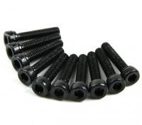 Screw Socket Head Hex M2.5 x 12mm Machine Thread Steel Black (10pcs)