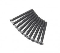 Screw Countersunk Hex M3x32mm Machine Thread Steel Black (10pcs)