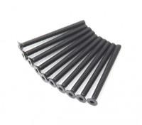 Screw Countersunk Hex M3x36mm Machine Thread Steel Black (10pcs)