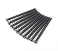 Screw Countersunk Hex M3x40mm Machine Thread Steel Black (10pcs)