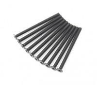 Screw Countersunk Hex M3x45mm Machine Thread Steel Black (10pcs)