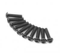 Screw Button Head Hex M3x12mm Machine Thread Steel Black (10pcs)