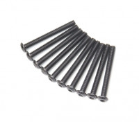 Screw Button Head Hex M3x28mm Machine Thread Steel Black (10pcs)