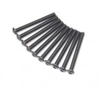Screw Button Head Hex M3x30mm Machine Thread Steel Black (10pcs)