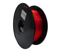HobbyKing 3D Printer Filament 1.75mm Flexible 0.8KG Spool (Red)