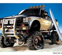 Tamiya 1/10 Scale Toyota Hilux High-Lift Truck Kit w/3-Speed & Surfboard 58397