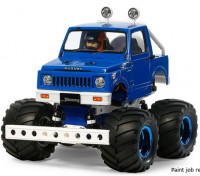 Tamiya 1/10 Scale Suzuki Jimny (SJ30) Wheelie Kit Blue Style 58576