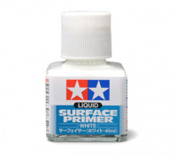 Tamiya Liquid Surface Primer White (40ml)