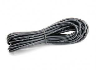 Turnigy High Quality 12AWG Silicone Wire 5m (Black)