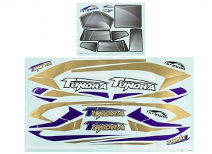 Durafly® ™ Tundra - Decal Set (Purple/Gold)