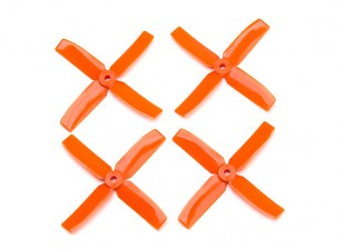 Dalprop Q4040 Bull Nose 4 Blade Propellers CW/CCW Set Orange (2 pairs)