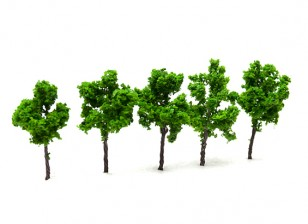 HobbyKing™ 50mm Scenic Wire Model Trees (5 pcs)