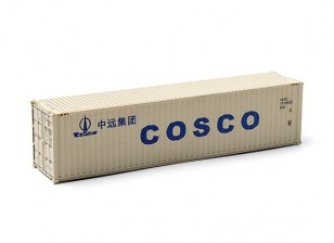 HO Scale 40ft Shipping Container (COSCO) side view