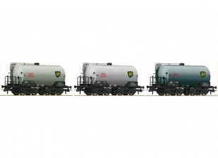 Roco HO 3pc Tank Wagon Set SJ (BP)