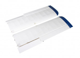 Avios Grand Tundra - Main Wing Set w/Spars and LEDs (Blue/Silver)