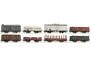 Roco/Fleischmann HO Scale 8 Piece Freight Wagon Set NS