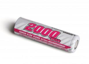 Turnigy 18650 2000mAh 3.7V Rechargeable Li-ion Battery