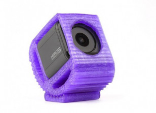 Adjustable TPU Mount for GoPro Session and Hero 4/5 ActionCams (Purple) 1