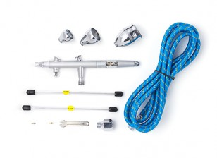 Pro Series Gravity Feed Airbrush Kit with Double Action Trigger