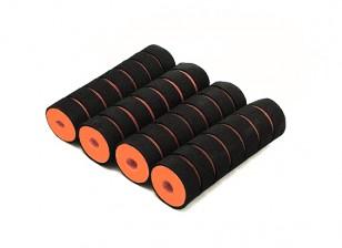 Multi-Rotor Shock Absorbing Foam Skid Collars Orange/Black (110x32x10mm) (4pcs)