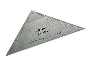 "Zona Precision 3"" Stainless Steel Triangle Ruler"