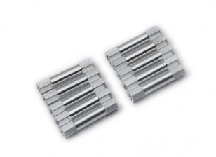 Lightweight Aluminium Round Section Spacer M3x26mm (Silver) (10pcs)