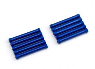 Lightweight Aluminium Round Section Spacer M3x26mm (Blue) (10pcs)