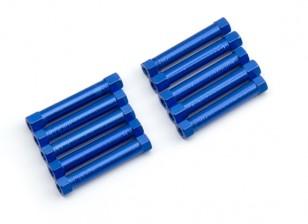 Lightweight Aluminium Round Section Spacer M3x29mm (Blue) (10pcs)