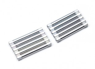Lightweight Aluminium Round Section Spacer M3x45mm (Silver) (10pcs)
