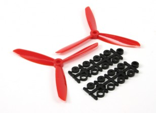 5045 3-Blade Electric Propellers (CW and CCW) Red (Pair)
