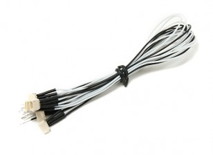 JST-SH 3Pin Male Plug with 200mm Wire Pigtail (5pcs)