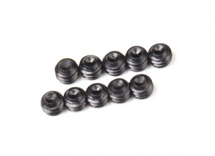 Screw Grub Hex M4 X 3mm Machine Steel Black (10pcs)
