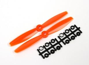 GemFan 6040 Bullnose Polycarbonate Propellers (CW/CCW) Orange (1 pair)
