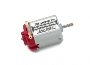Basher Supersonic 130 Size Brushed Motor (Red)