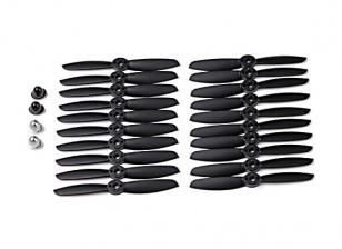 KingKong 4045 2-Blade Propellers Black (CW/CCW) (10 Pairs) w/Self-tightening Prop Adapters