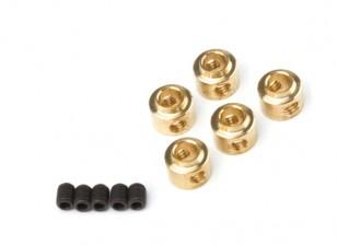 Wheel Collars 3.5mm (Brass)  5pcs/bag